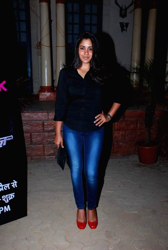 Television actress Narayani Shastri during the first screening of television channel Life Ok new show Piya Rangrezz in Mumbai, on April 27, 2015. - Narayani Shastri