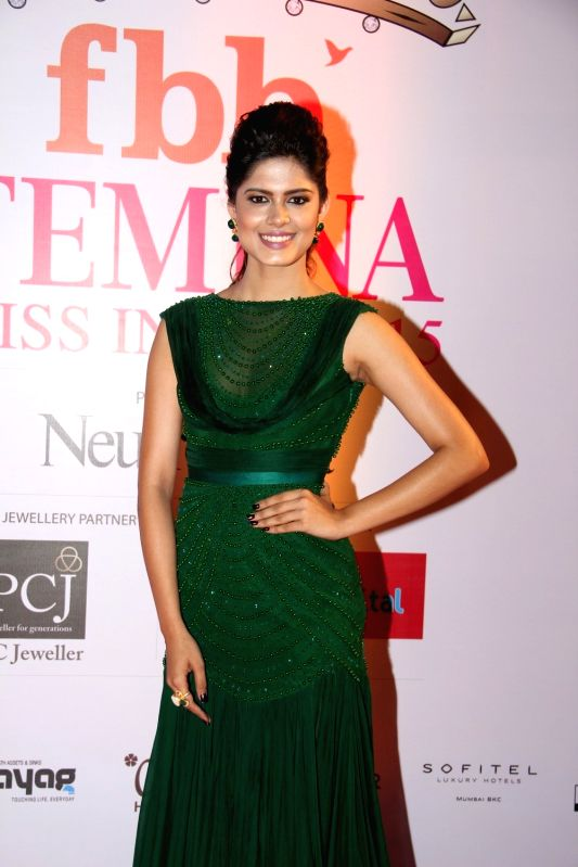 Television actress Ruhi Singh during the Grand Finale fbb Femina Miss India 2015 in Mumbai on March 28, 2015. - Ruhi Singh