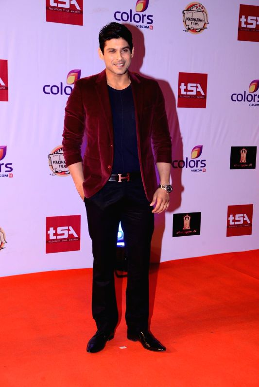 Television Sidharth Shukla during the Television Style Award 2015 in Mumbai, on March 13, 2015.