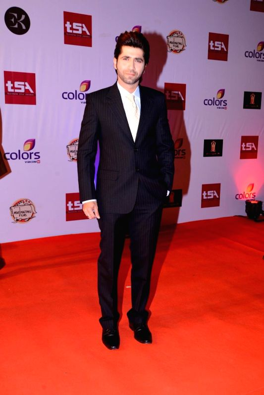Television Sumit Kaul during the Television Style Award 2015 in Mumbai, on March 13, 2015.