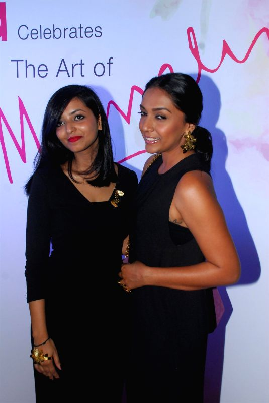 The art  of Fashion designer Mrinalini Chandra collection preview in Mumbai on Dec 10, 2014.