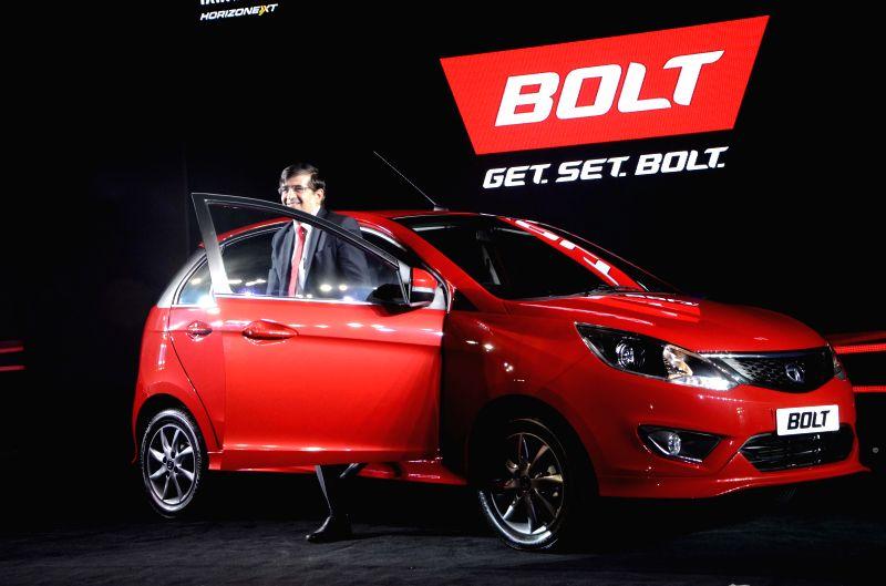 The President of Tata Motors' Passenger Vehicles Business Unit, Mayank Pareek at the launch of `Bolt` in Mumbai, on Jan 22, 2015.
