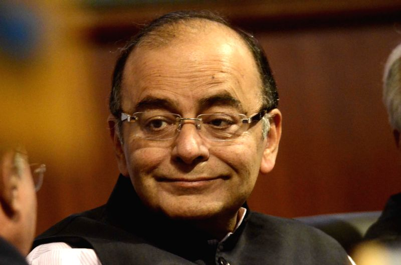 The Union Minister for Finance, Corporate Affairs and Information and Broadcasting Arun Jaitley at the National seminar on the `Indian Financial Code` recommended by the Sector Legislative ...