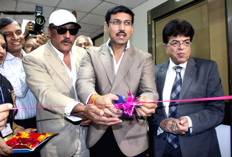 The Union Minister of State for Information and Broadcasting, Col. Rajyavardhan Singh Rathore inaugurates the New FM Transmitter of All India Radio, in Mumbai on March 17, 2015. Also seen ... - Jackie Shroff