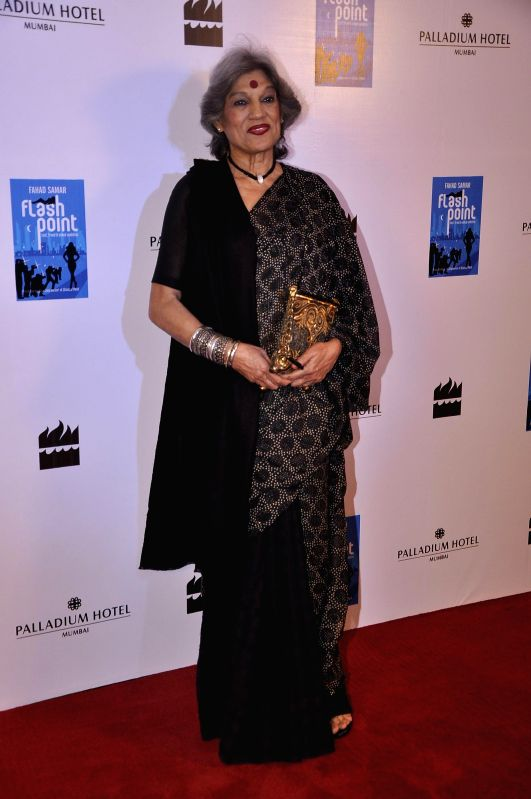 Theatre actor Dolly Thakore during the launch of Fahad Samar`s book `Flash Point` at Palladium in Mumbai, on Feb. 8, 2015. - Dolly Thakore