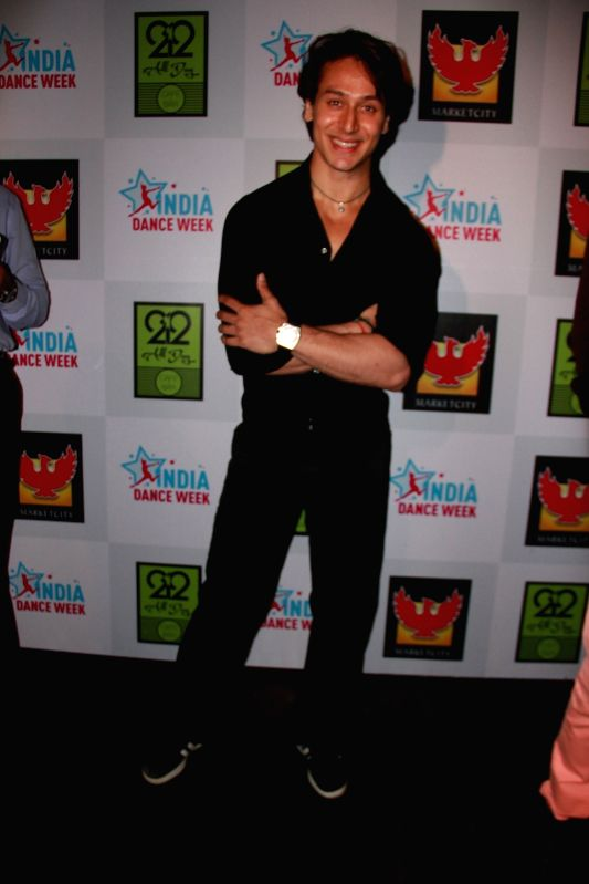 Tiger Shroff during the grand finale of second edition of India Dance Week in Mumbai on April 26, 2015.