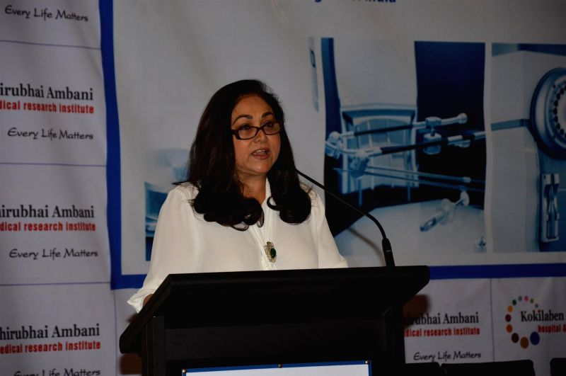 Tina Ambani, Chairperson, Kokilaben Dhirubhai Ambani Hospital during the Best of ASTRO conclave in Mumbai, on May 2, 2015. The two-day conference is being hosted by Kokilaben Dhirubhai Ambani ... - Tina Ambani