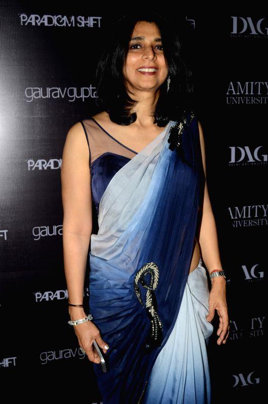 Tina Tahiliani Parikh, Executive Director, Ensemble during the opening of fashion designer Gaurav Gupta's store in Mumbai on Nov 27, 2014.