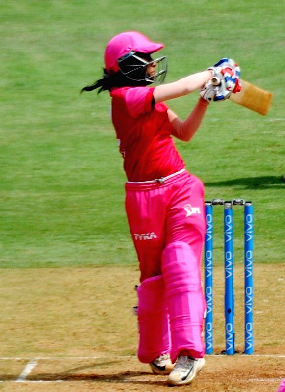 :Mumbai: Trailblazers' Jemimah Rodrigues during Women's T20 Challenge Match 2018 between Trailblazers and Supernovas at Wankhede Stadium in Mumbai on May 22, 2018. .