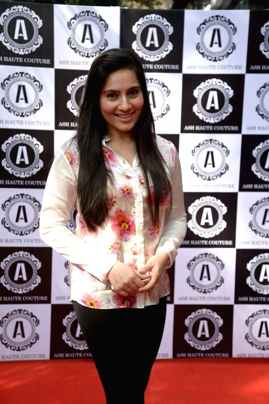 TV actor Kanchi Kaul during Asha Karla`s Summer 2015 Couture Collection hosted by Arpita Khan, on Feb 5, 2015. - Kanchi Kaul