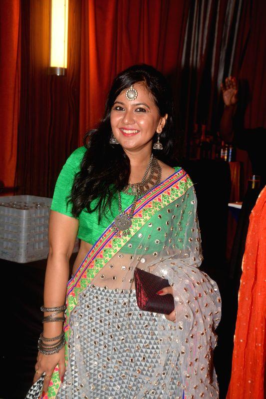 TV actress Roopal Tyagi during Karan Patel and Ankita Bhargava`s engagement and sangeet ceremony at the Novotel Hotel in Juhu, Mumbai on 1st May, 2015. - Roopal Tyagi