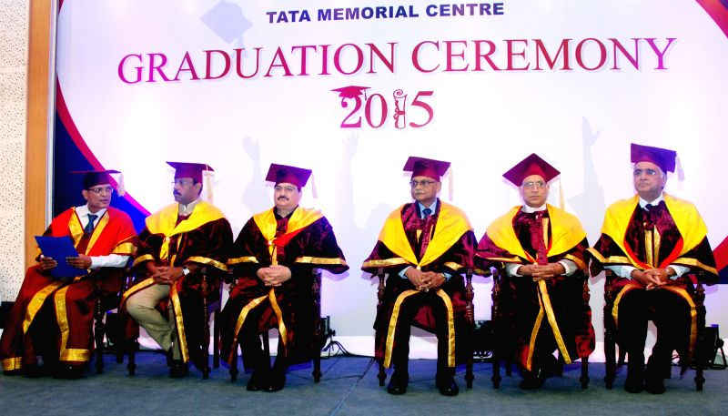 Union Minister for Health and Family Welfare Jagat Prakash Nadda at the 1st Graduation Ceremony of Tata Memorial Center, in Mumbai on April 11, 2015.