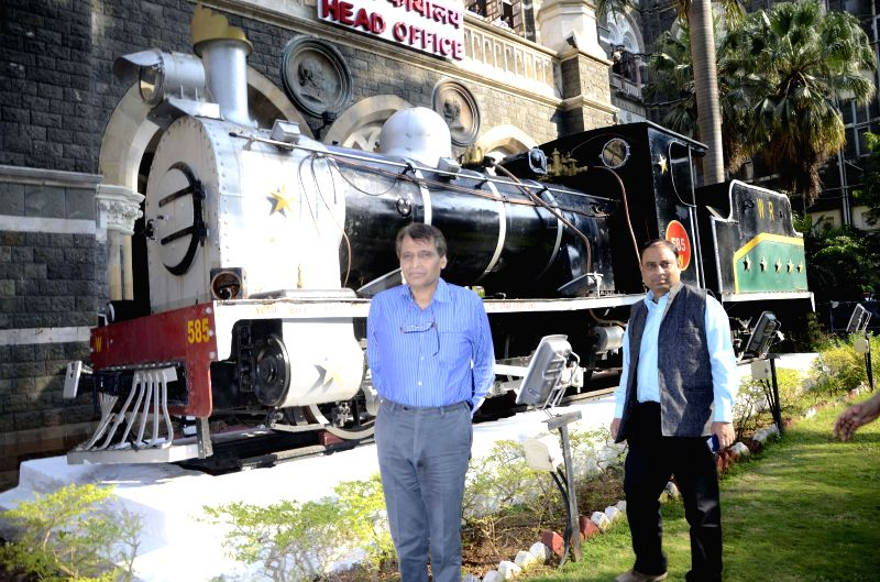 Union Minister for Railways Suresh Prabhakar Prabhu visits the Western Railways Headquarters at Churchgate in Mumbai on Jan 9, 2015. - Suresh Prabhakar Prabhu