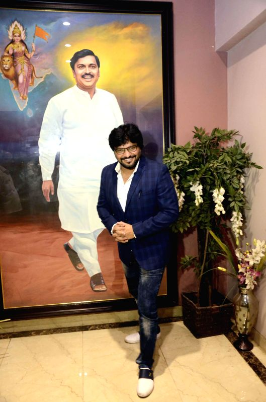 Union MoS for Urban Development, and Housing and Urban Poverty Alleviation Babul Supriyo during his visit to BJP head office in Mumbai, on Nov 21, 2014.