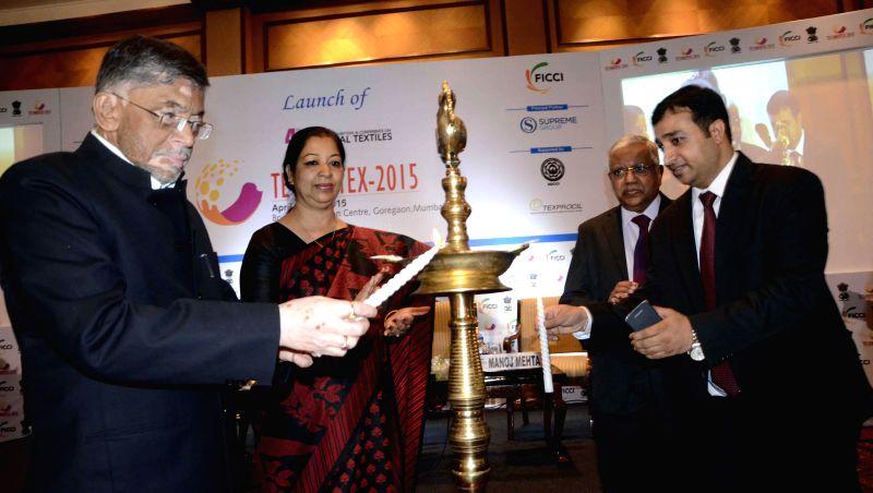Union Textiles Minister Santosh Kumar Gangwar at the launch of `TECHNOTEX-2015` organised by FICCI and textile ministry in Mumbai, on Dec 9, 2014. - Santosh Kumar Gangwar