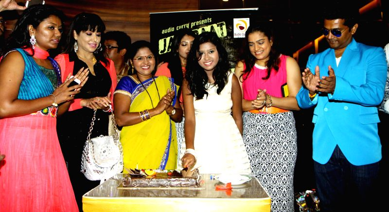 Vaishali, Tinaa, Swati, Sanchiti, Ekta and Navin Prabhakar during the launch of Jazzbaat, a music album in Mumbai, on April 22, 2015.