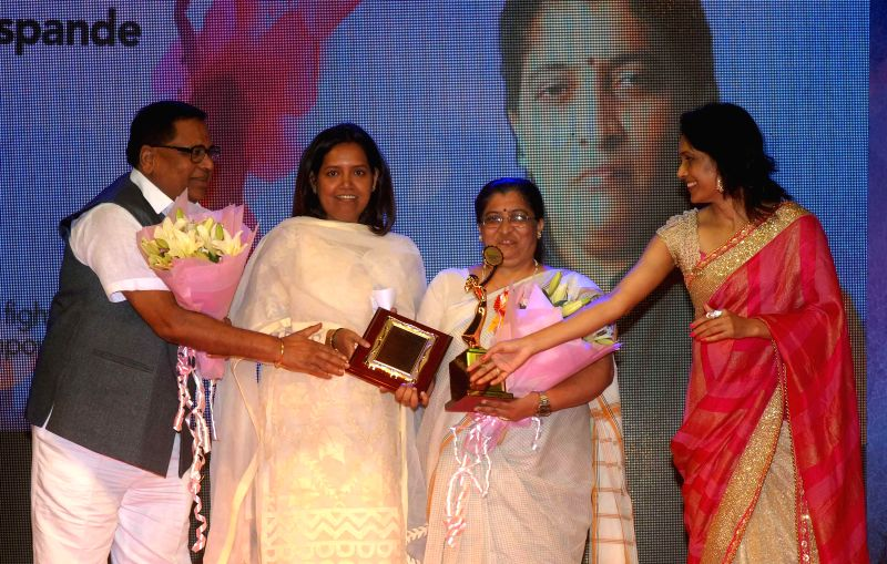 Varsha Gaikwad, Social Activist Varsha Deshpande and Org. Dr. Bhavna Raj during the `Being Woman`, a special event on International woman`s day, in Mumbai, on March 8, 2015.