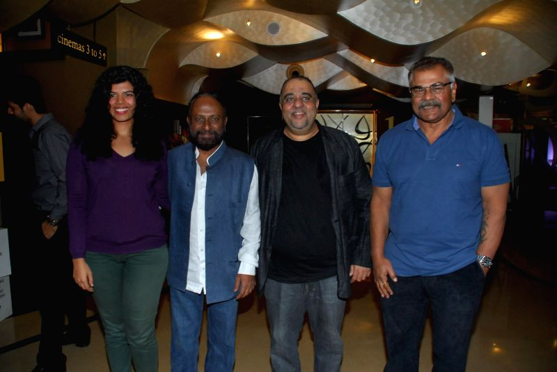 Veera Saxena daughter of actor Sharat Saxena, Jagdish Rajpurohit and filmmaker Ketan Mehta during the My French Film Festival 2015 press meet and screening of film Eastern Boy at PVR Cinemas . - Sharat Saxena and Ketan Mehta