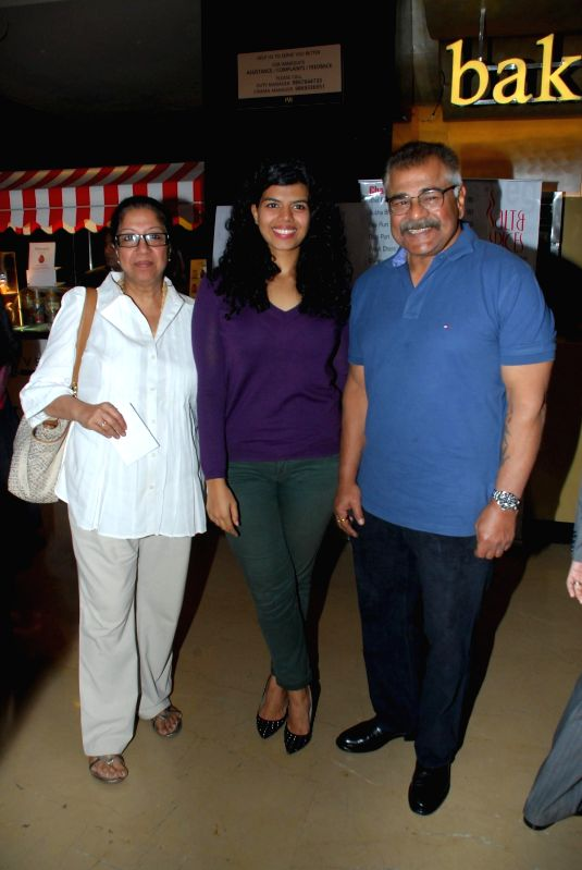 Veera Saxena daughter of actor Sharat Saxena and wife Shobha Saxena during the My French Film Festival 2015 press meet and screening of film Eastern Boy at PVR Cinemas in Mumbai on 13th Jan .. - Sharat Saxena