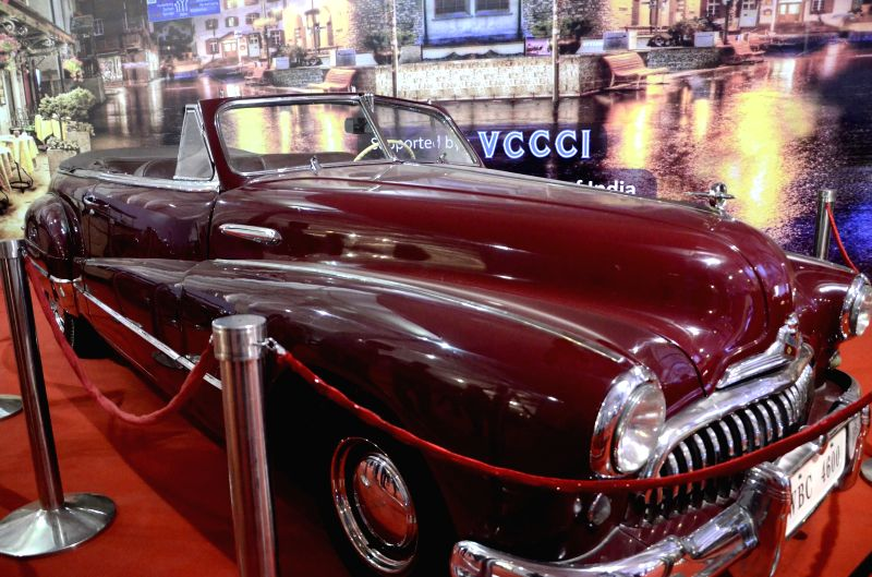 Vehicles on display at the Mumbai International Motor Show 2015 in Mumbai on Feb 5, 2015.