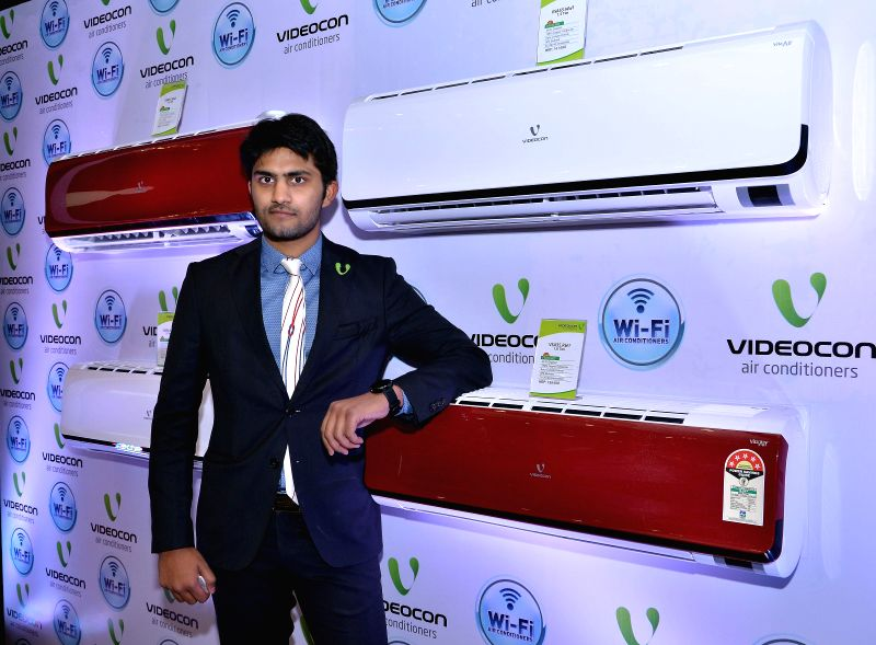 Videocon Group Technology and Innovation Head Akshay Dhoot at the launch of the new Wi-Fi air conditioners in Mumbai, on Feb 19, 2015.