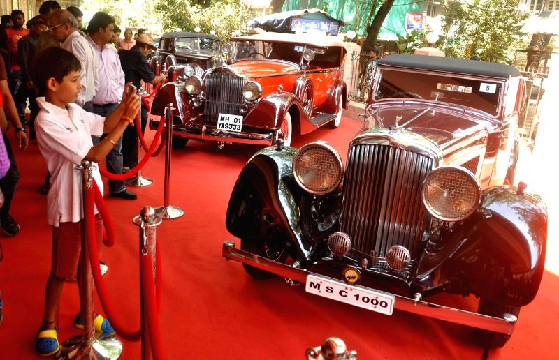 Vintage cars are on display during the Osianama Vintage and Classic Automobile exhibition organised in Mumbai on Feb 21, 2015.