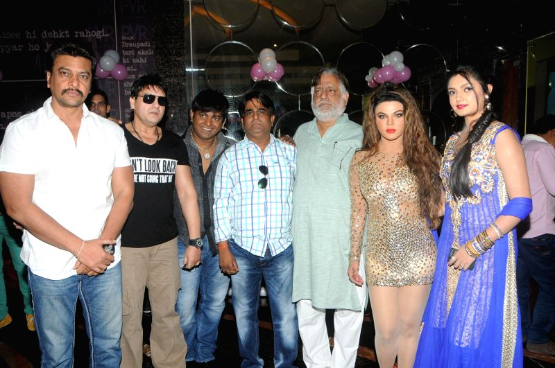 VIP, SAchindra Sharma, Ranjeet Sharma, Rakhi Sawant, and Ashima Sharma during the trailer launch of film Mumbai Can Dance Saala in Mumbai, on Dec. 22, 2014. - Ranjeet Sharma and Ashima Sharma