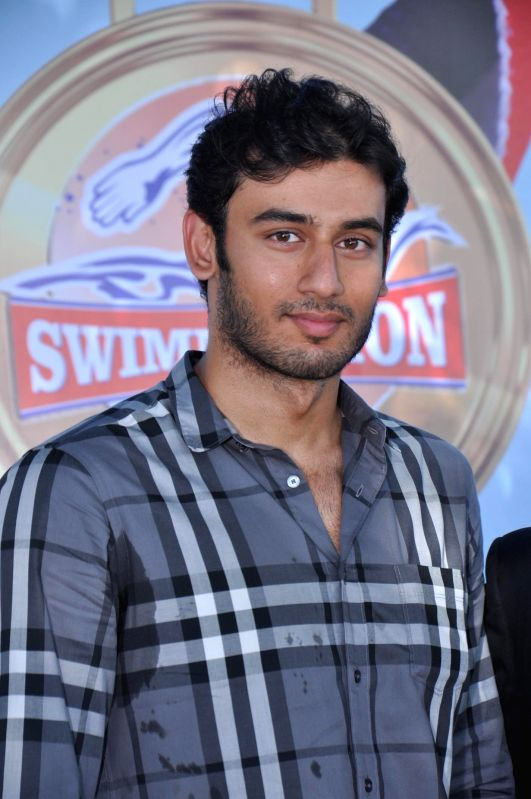 Virdhaval Khade Indian Olympic Swimmer at Swimmathon 2015 press conference in Mumbai on Feb 17, 2015. (Photo : IANS)