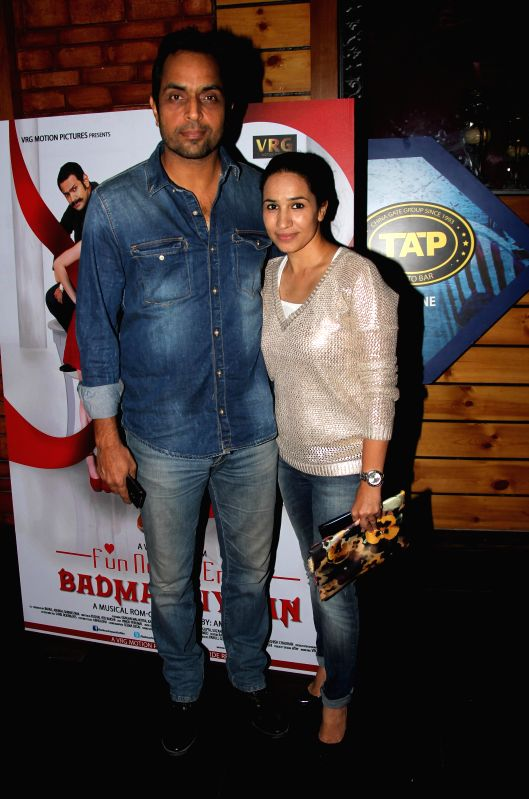 Vishwajeet Pradhan with wife Sonalika Pradhan during music launch of film Badmashiyaan in Mumbai on Feb. 4, 2015.