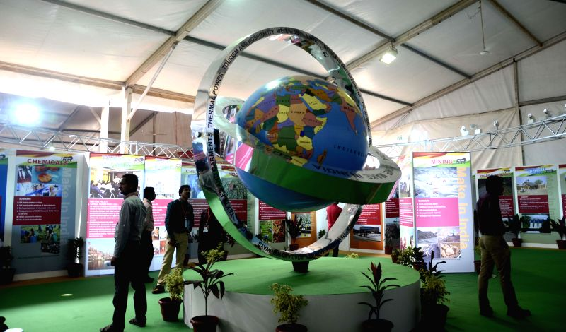 Visitors visit the `102nd Indian Science Congress-2015` at MMRDA ground in Mumbai on Jan. 3, 2014.