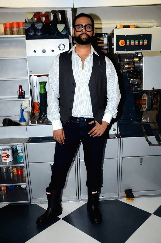 VJ Andy during the launch of a first shoes, bag care and leather store in Mumbai on June 20, 2015.