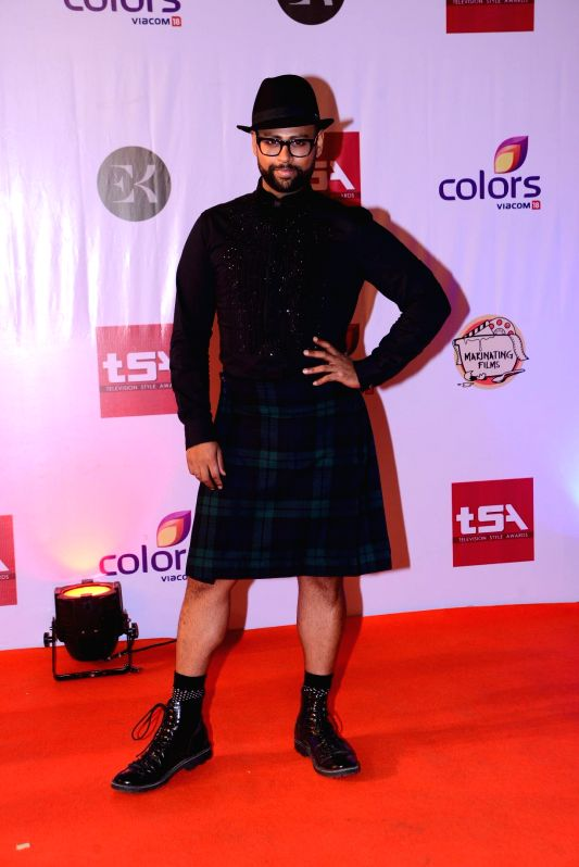 VJ Andy during the Television Style Award 2015 in Mumbai, on March 13, 2015.