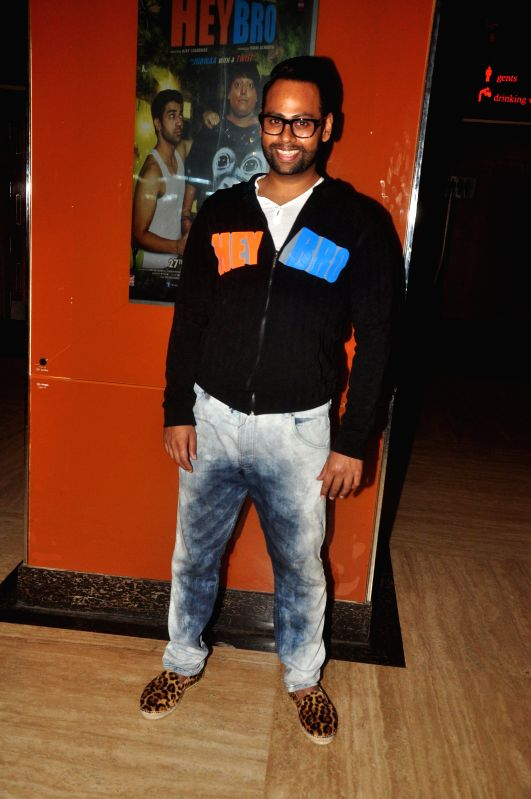 VJ Andy during the trailer launch of film 'Hey Bro' in Mumbai on Jan. 15, 2015.