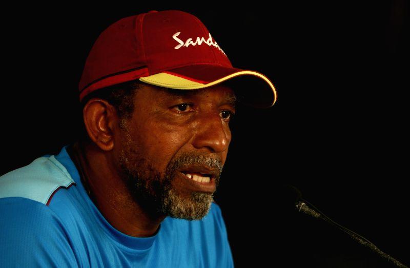 Mumbai: West Indies coach Phil Simmons addresses a press conference in Mumbai on Dec 10, 2019. (Photo: Surjeet Yadav/IANS)