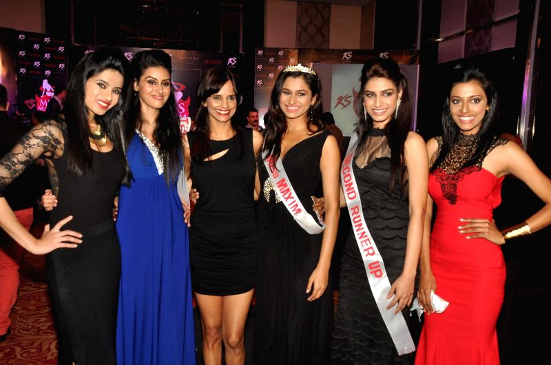 Winners of Miss Maxim 2015 during the Grand Finale of Miss Maxim 2015 in Mumbai on Dec 21, 2014.