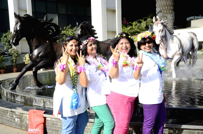 Women during a programme organised on International Women's Day in Mumbai, on March 8, 2015.