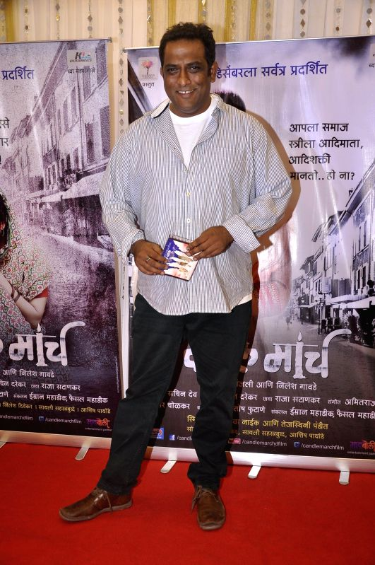 Writer Sachin Darekar during the music launch of upcoming Marathi film Candle March in Mumbai, on Nov 17, 2014.