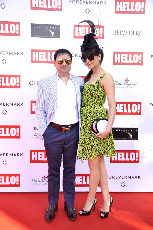 Yohan and Delna Poonawalla during the Hello Classic Cup at Mahalaxmi Race Course in Mumbai on Feb. 8, 2015.