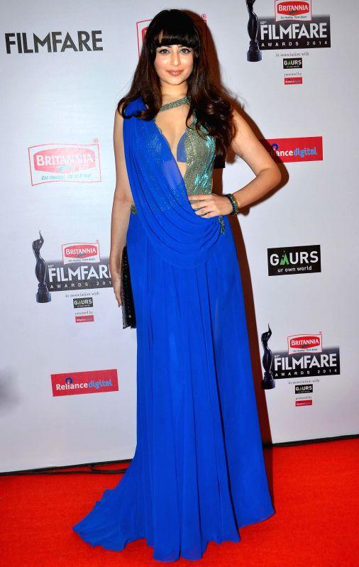Zoya Afroz graces during the 60th Britannia Filmfare awards in Mumbai, on January 31, 2015.