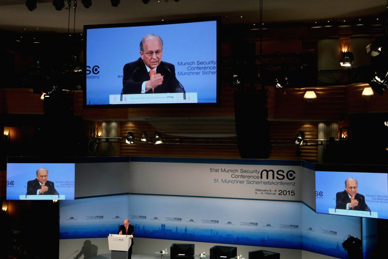 Chairman of the Munich Security Conference (MSC) Wolfgang Ischinger  addresses the opening ceremony of MSC in Munich, Germany, Feb. 6, 2015.