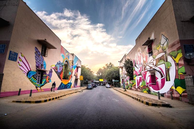 Murals in Lodhi Colony, Delhi. Pic Courtesy: Akshat Nauriyal, St+Art Foundation