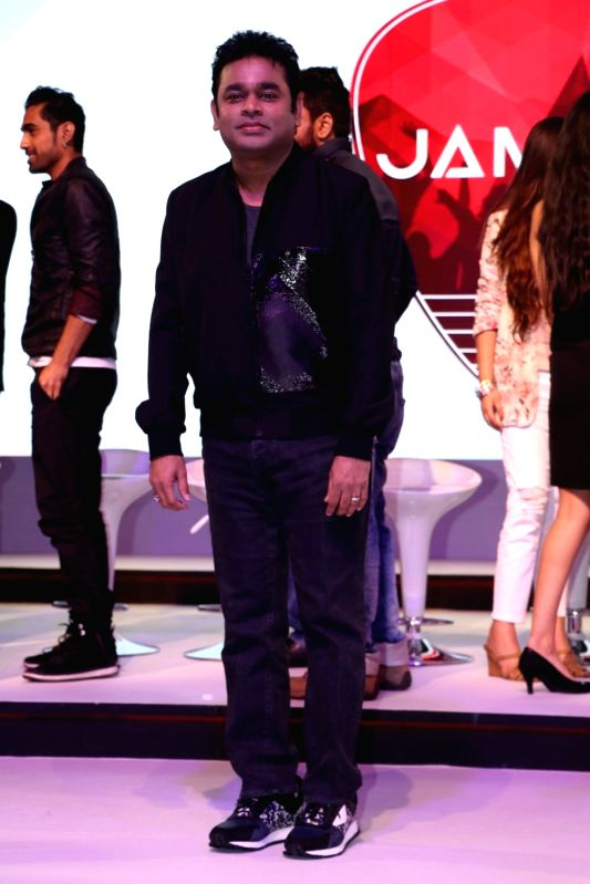 Music composer A R Rahman during a musical collaboration with YouTube in association with Qyuki in Mumbai on Aug 10, 2016.