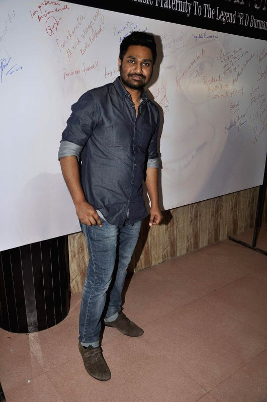 Music composer and singer Mithoon during the celebration of 75th birth anniversary of late music director R D Burman in Mumbai, on June 27, 2014.