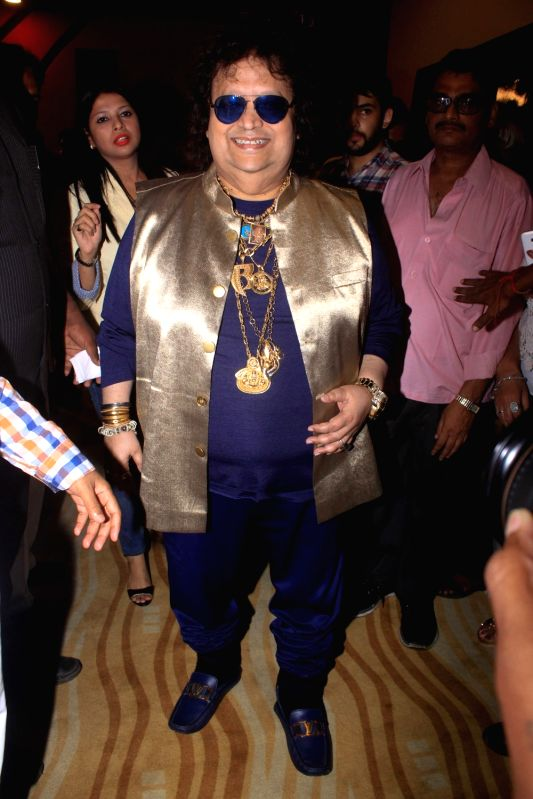 Music composer Bappi Lahiri at the launch of Bombay Talkies Music in Mumbai on July 17, 2018.