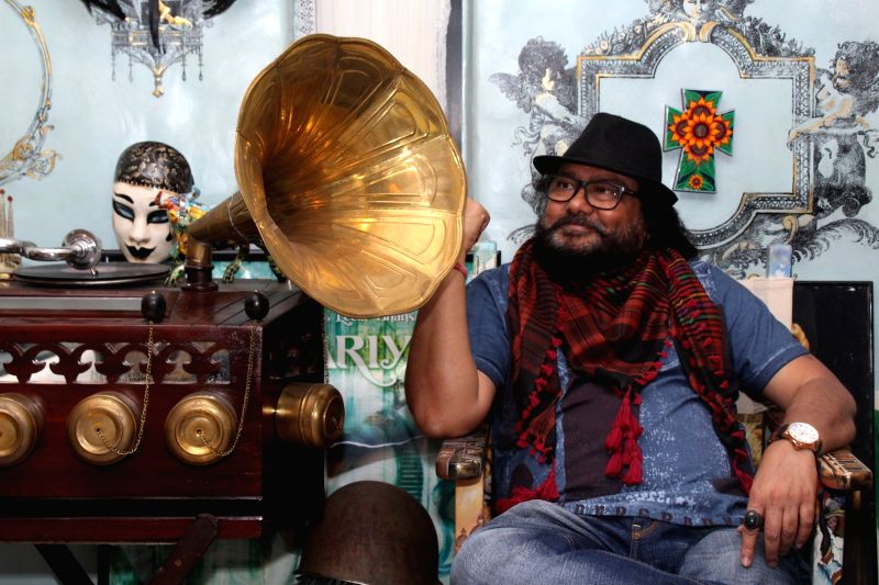 Music Composer Ismail Darbar during the interview For Upcoming Film Bhoomi in Mumbai,on June 12, 2017.