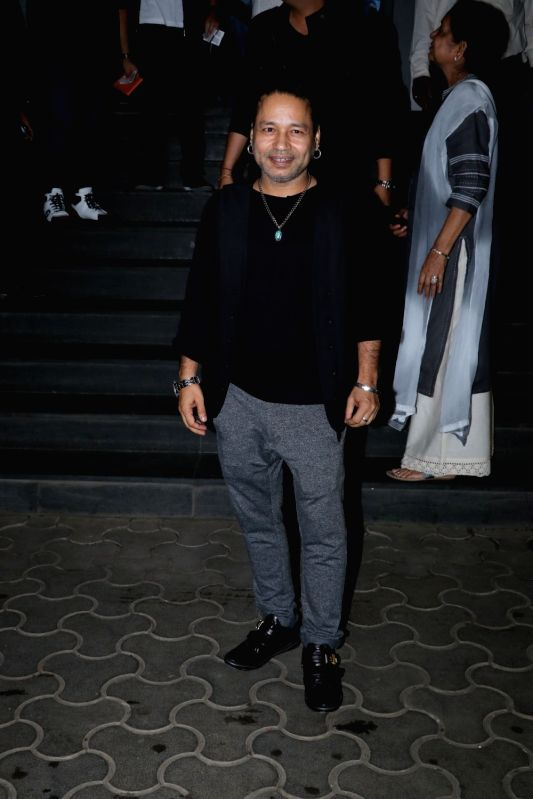 "Music composer Kailash Kher at the special screening of film ""Mulk"" in Mumbai on Aug 2, 2018. - Kailash Kher"