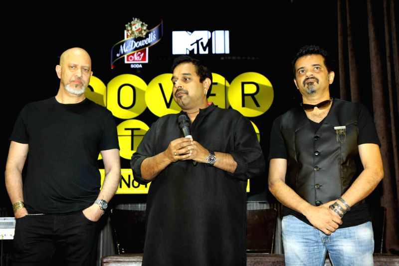 Music composer Loy Mendonsa, singer Shankar Mahadevan and music composer and guitarist Ehsaan Noorani during the launch of new show McDowell`s N0 1 Yaari Jam by Pepsi MTV Indies in Mumbai, on ...