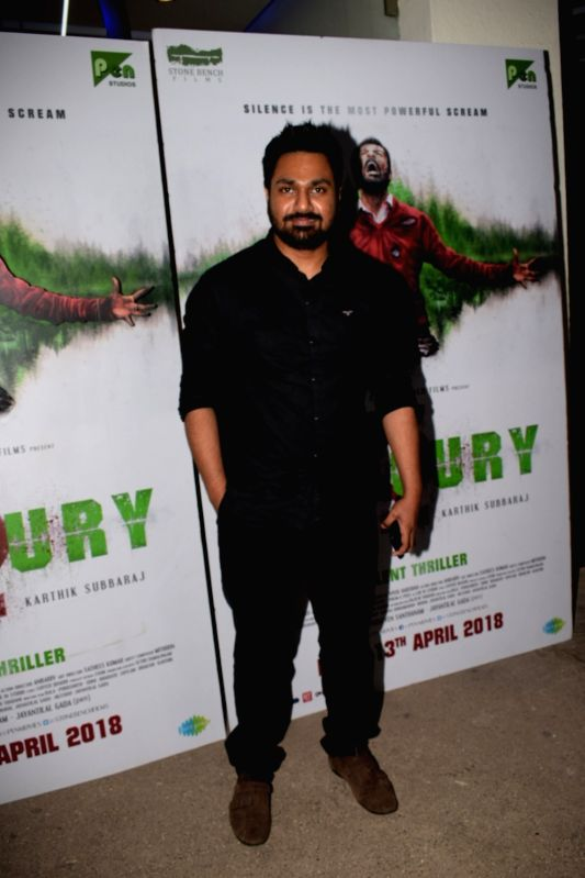 """Music composer Mithoon at the special screening of film """"Mercury"""" in Mumbai on April 12, 2018."""
