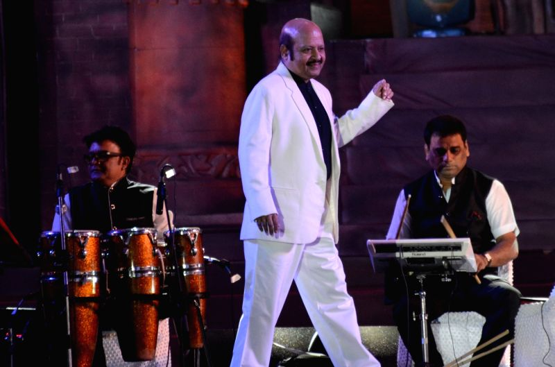 Music composer Rajesh Roshan during Madhya Pradesh foundation day programme in Bhopal on Nov 1, 2015.