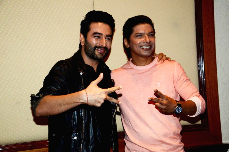 Music composer Shekhar Ravjian and singer Shaan during the launch of &TV channel The Voice India Kids show, in Mumbai on July 19, 2016.
